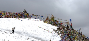 Cold of the Snow...Warmth of the Prayer Flags :)